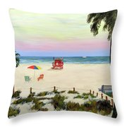 Siesta Key Beach Morning Throw Pillow