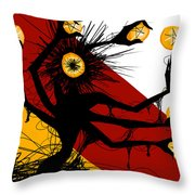 Siete De Oros Throw Pillow