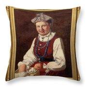 Sigfrid August Keinanen, Woman Standing. Throw Pillow