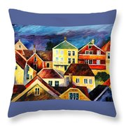 Sight From Above - Palette Knife Oil Painting On Canvas By Leonid Afremov Throw Pillow
