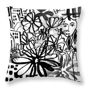 Sightseeing 2- Art By Linda Woods Throw Pillow