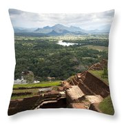 Sigiriya Ruins Throw Pillow