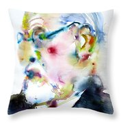 Sigmund Freud - Watercolor Portrait.3 Throw Pillow