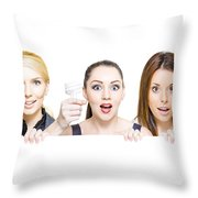 Sign Of Business Innovation And Business Success Throw Pillow