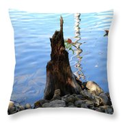 Sign Of Life Throw Pillow