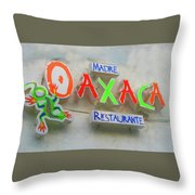 Sign Of Madre Oaxacan Restaurant Throw Pillow