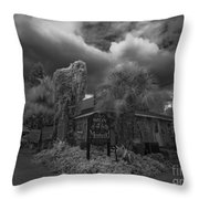 Sign Of The Mermaid Throw Pillow