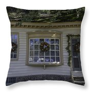 Sign Of The Rhinoceros At Christmas Throw Pillow