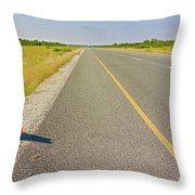 Sign On The Road Throw Pillow
