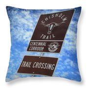 Sign On The Trail Throw Pillow