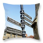 Sign Posts In Bury St Edmunds Throw Pillow