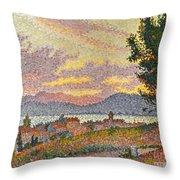 Signac: St Tropez, 1896 Throw Pillow