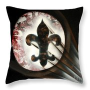 Signal Di Lis Throw Pillow