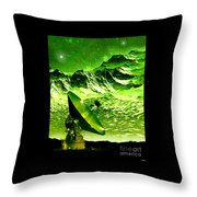 Signal From Space Throw Pillow