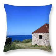Signal House Radio Station Throw Pillow