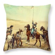 Signaling The Main Command 1885 Throw Pillow
