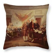 Signing The Declaration Of Independence Throw Pillow