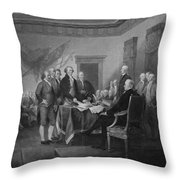 Signing The Declaration Of Independence Throw Pillow by War Is Hell Store