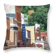 Signs And Historic Buildings Throw Pillow