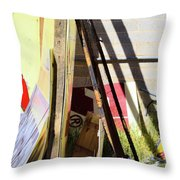 Signs And Shadows Throw Pillow