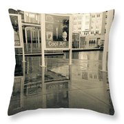 Signs In The Rain Throw Pillow