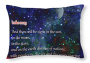 Signs In The Sun Moon Stars Throw Pillow