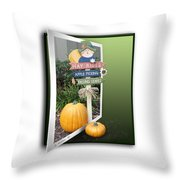 Signs Of Halloween Throw Pillow