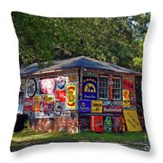 Signs Of Past Times Throw Pillow