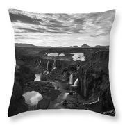 Sigoldufoss Waterfalls Iceland 1291 Throw Pillow