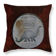 Siinclair Dino Gasoline Sign Throw Pillow