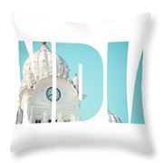 Sikh Gurdwara Golden Temple Throw Pillow