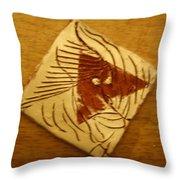 Silence - Tile Throw Pillow