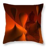 Silence -3- Throw Pillow