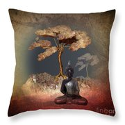 Silence -a- Throw Pillow by Issabild -
