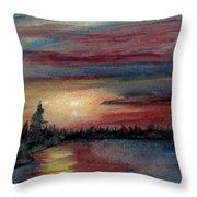 Silence Ahead Of The Storm Throw Pillow