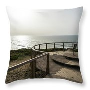 Silence And Solitude - A Special Sunset Throne High Above The Ocean Throw Pillow