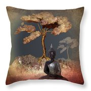 Silence -b- Throw Pillow