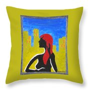 Silence In The City Throw Pillow