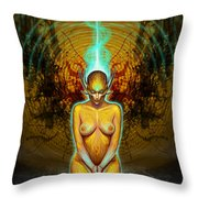 Silence Is Golden Throw Pillow