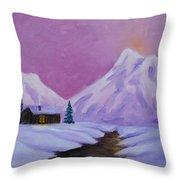 Silence Of Snow Throw Pillow