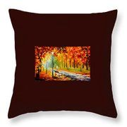 Silence Of The Fall Throw Pillow