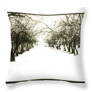Silenced By The Snow Throw Pillow