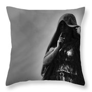 Silent Angel Throw Pillow