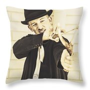 Silent Assassin With Target In Sight Throw Pillow