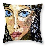 Silent Blue  Throw Pillow