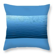 Silent Blue Tranquility Throw Pillow