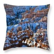 Silent City Winter Throw Pillow