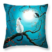 Silent Connection Throw Pillow