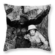 Silent Film Still: Animal Throw Pillow