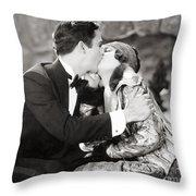Silent Film Still: Kissing Throw Pillow